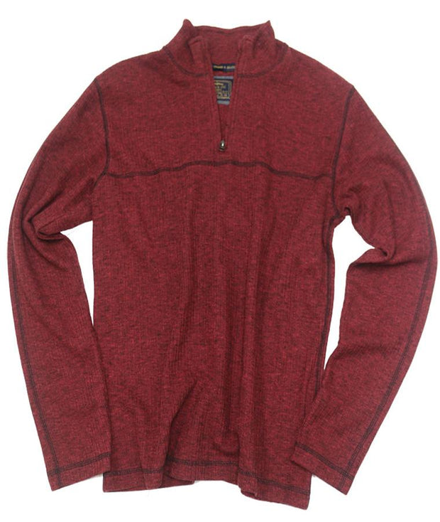Drop Needle Quarter Zip<br>Molten Lava