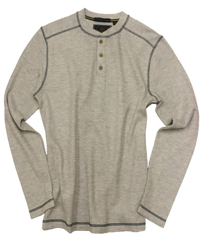 Drop Needle Henley<br>Oatmeal