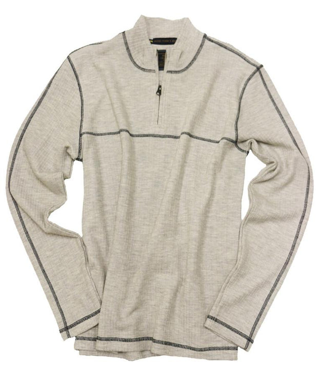 Drop Needle Quarter Zip<br>Oatmeal