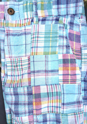 Patch Madras Short<br>Sky Blue