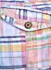 Patch Madras Short<br>Peach
