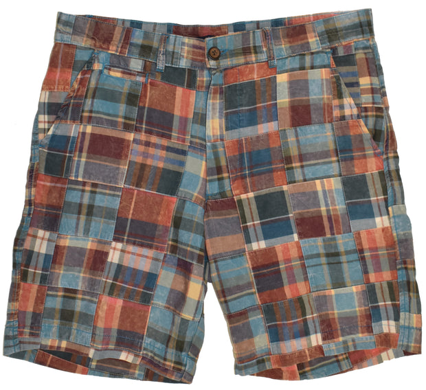 Patch Madras Short<br>Rust-Teal