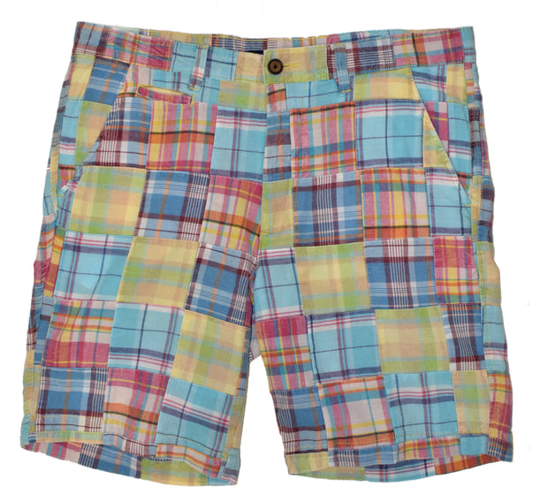 Patch Madras Short<br>Light Blue