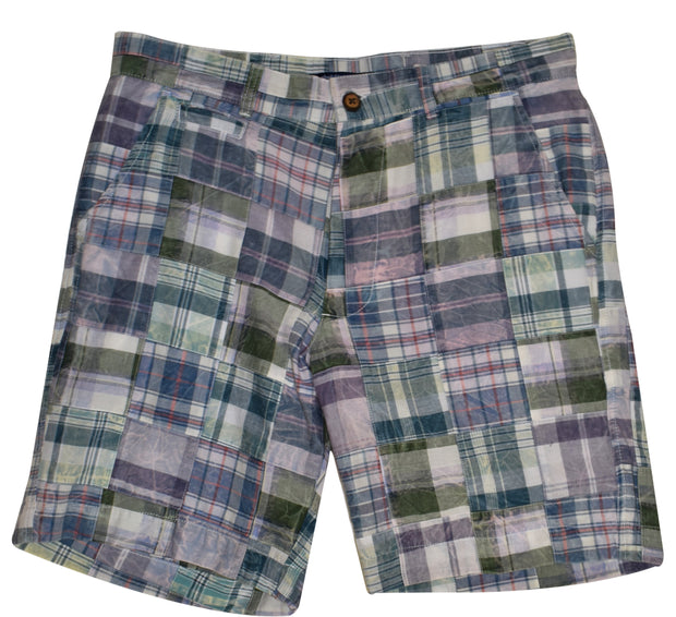 Patch Madras Short<br>Blue-Green