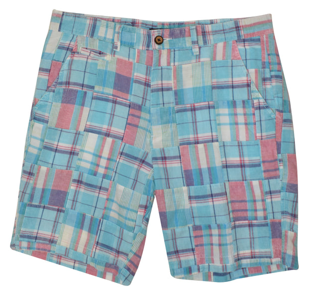 Patch Madras Short<br>Aqua