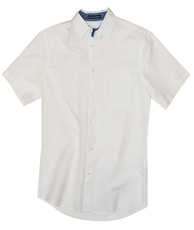 Short Sleeve Linen<br>Cotton Woven