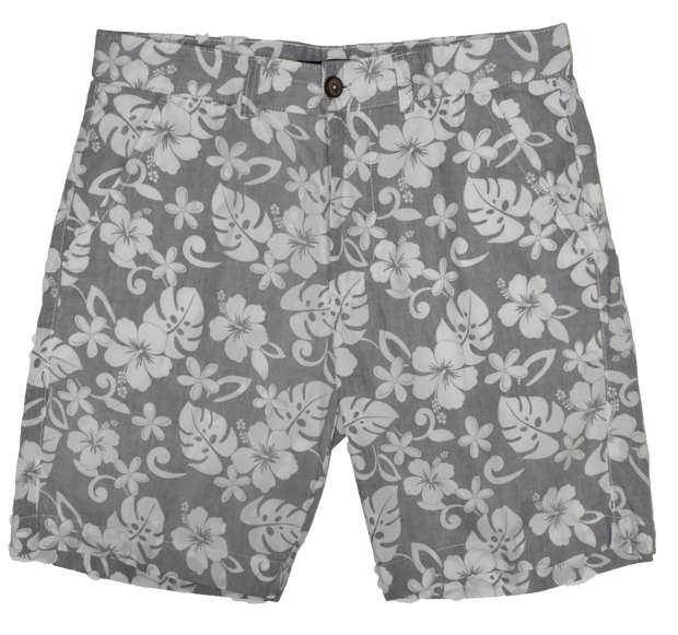 Poplin Tropical Print Short