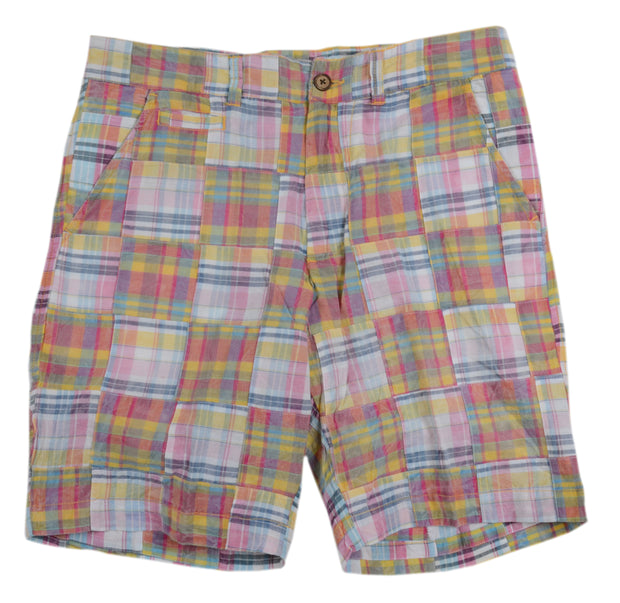 Patch Madras Short<br>Light Orange