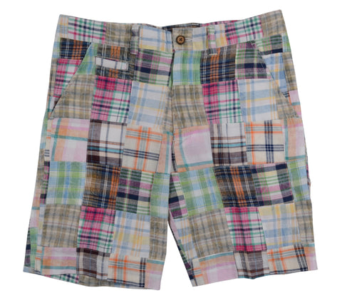 Patch Madras Short<br>Lt Blue