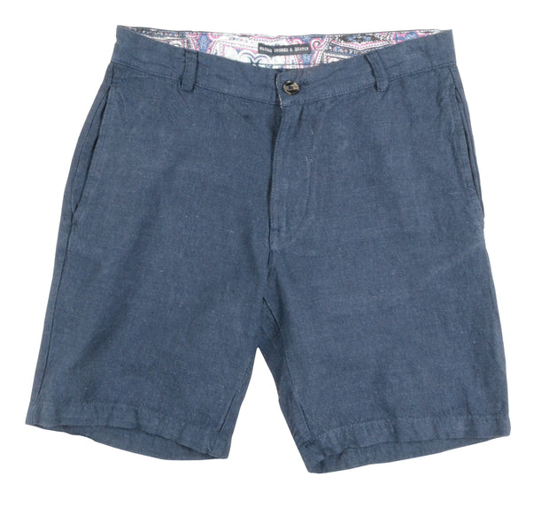 Linen Cotton Short<br>Navy