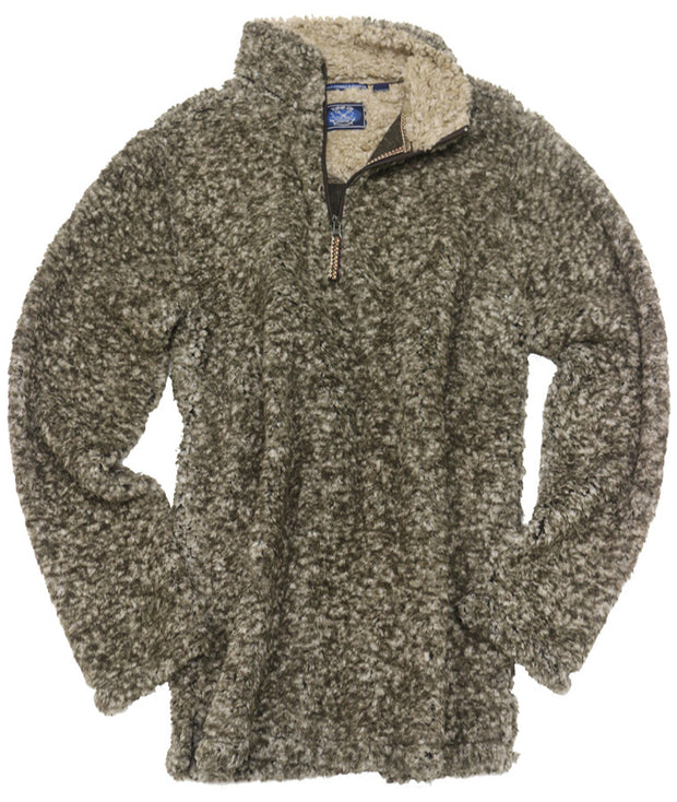 Frosted Fleece Quarter Zip<br>Brown