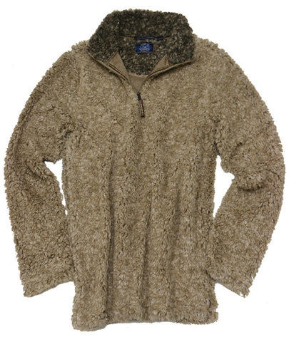 Frosted Fleece Quarter Zip<br>Natural