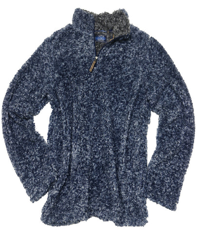 Frosted Fleece Quarter Zip<br>Blue