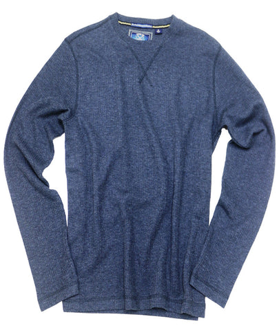 Drop Needle Crew Neck<br>Navy