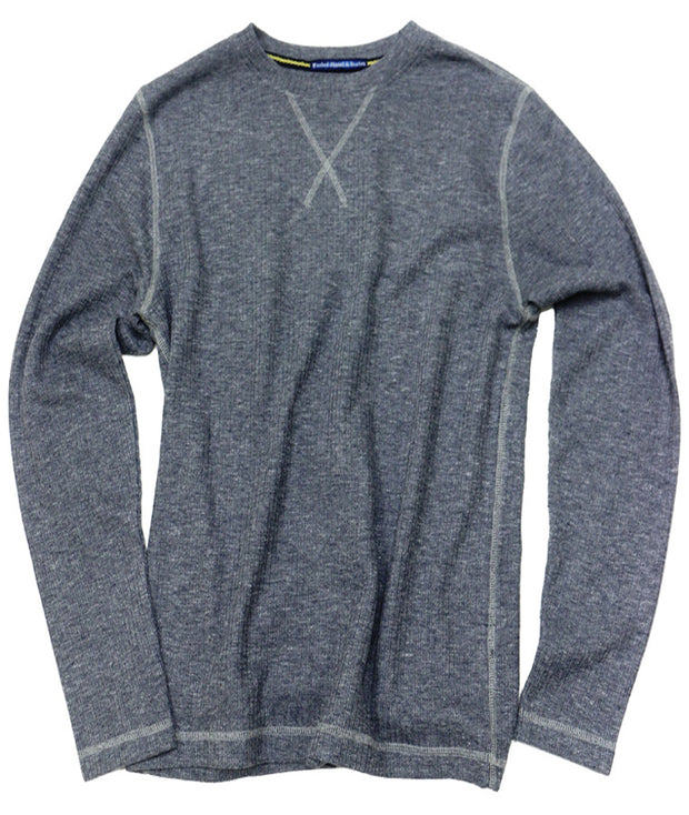 Drop Needle Crew Neck<br>Citadel Blue