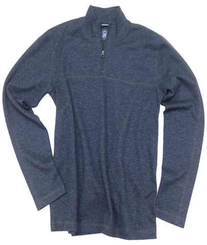 1x1 Rib Quarter Zip<br>Dark Navy