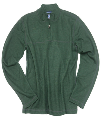 1x1 Rib Quarter Zip<br>Hunter