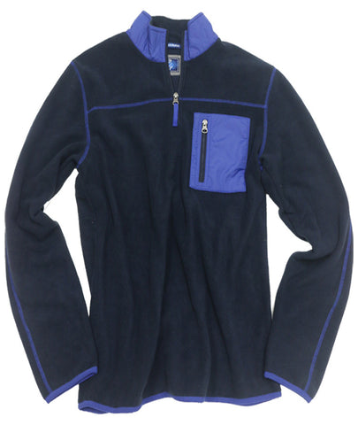 Polar Fleece Quarter Zip<br>Mood Indigo