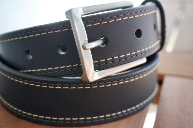 Oil Tanned Dress Belt, Black