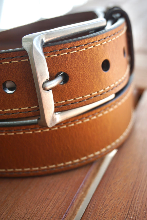 Oil Tanned Dress Belt, Cognac