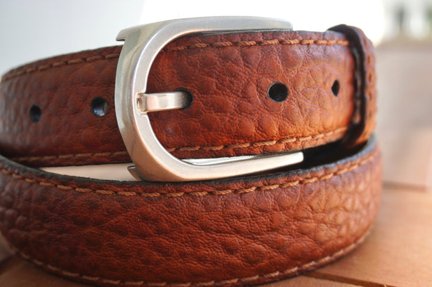 Bison Leather Dress Belt