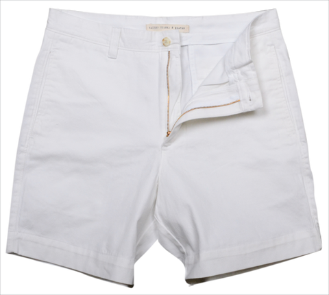 "Classic Vintage Twill<br>7"" Short<br>White"