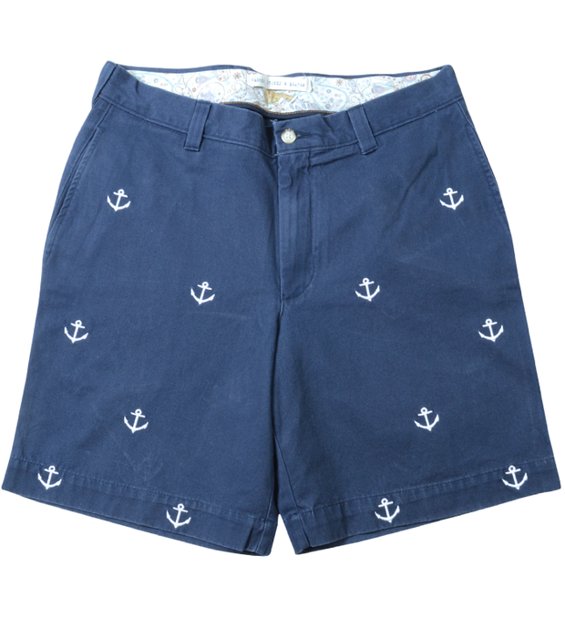 Embroidery Short<br>Anchor Print<br>Navy