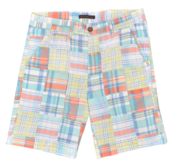 Patch Madras Short<br>Light Green