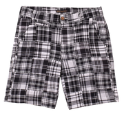 Patch Madras Short<br>Black/White