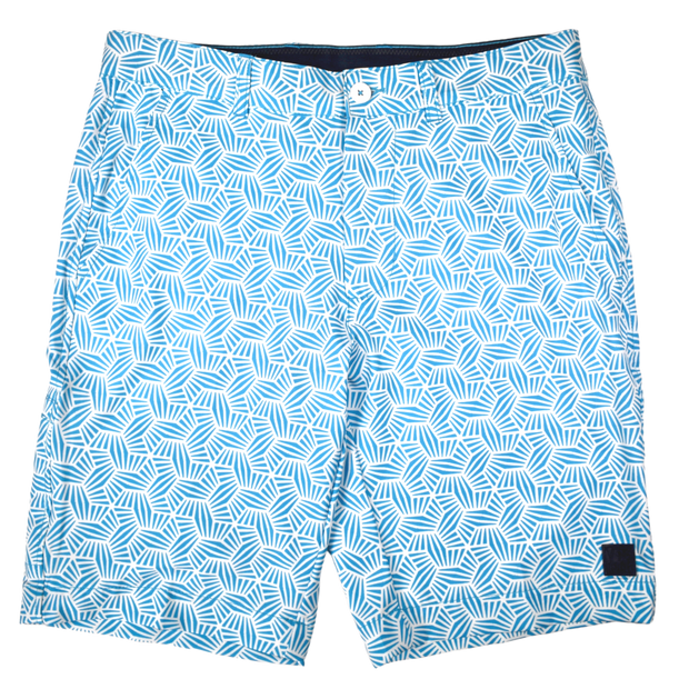 Geo Print Golf Short Blue