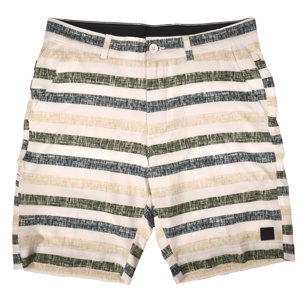 Chalk Stripe Print Golf Short