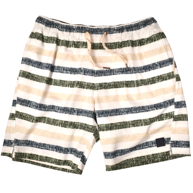 Chalk Stripe Sport Short Green/Navy/Tan