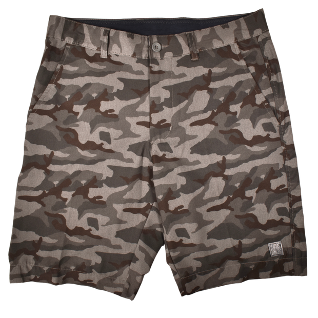 Camo Golf Short Grey