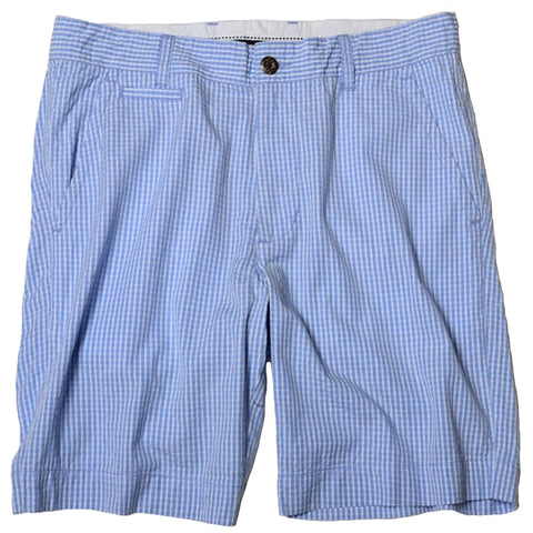 Vintage Seersucker Short<br>Blue