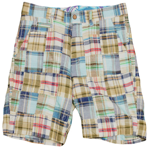 Authentic Madras Short<br>Light Blue