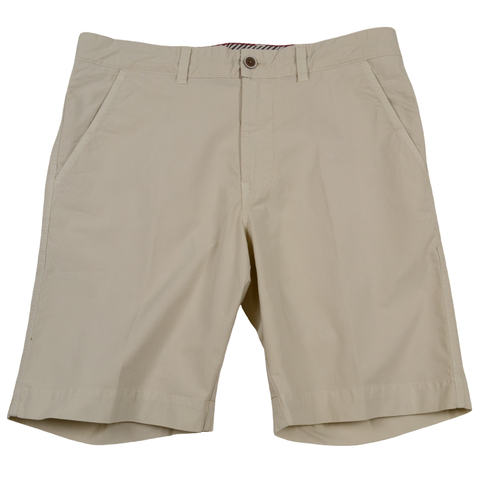Stretch Poplin Short<br>Stone