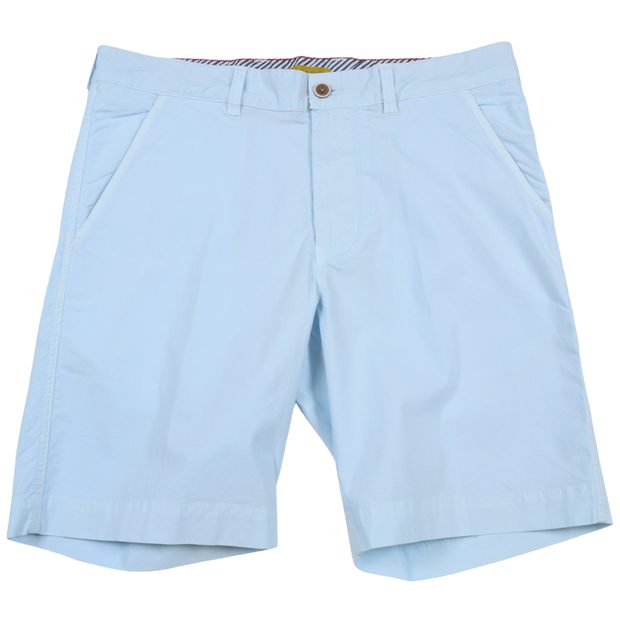 Stretch Poplin Short<br>Baby Blue