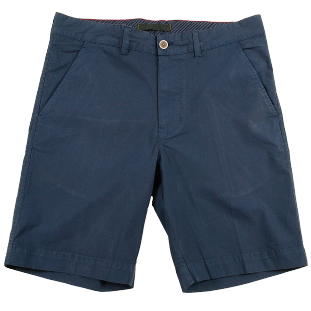 Stretch Poplin Short<br>Navy