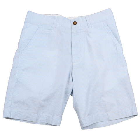 Mini Stripe Seersucker Short<br>Light Blue
