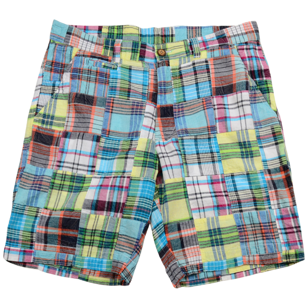Patch Madras Short<br>Green-Blue