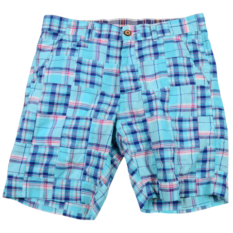 Authentic Madras Short<br>Blue