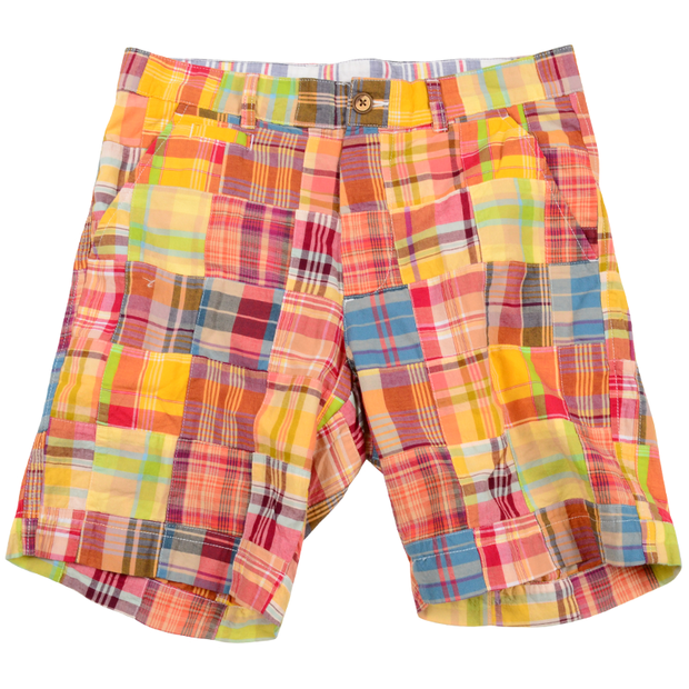 Authentic Madras Short<br>Orange-Yellow