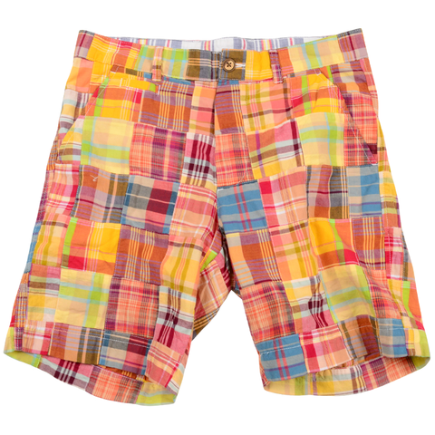 Authentic Madras Short<br>Orange