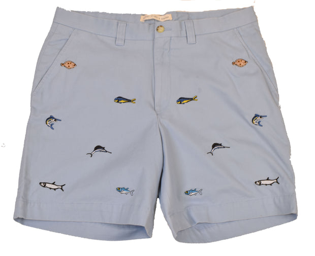 Swim With The Fishes Embroidered Short