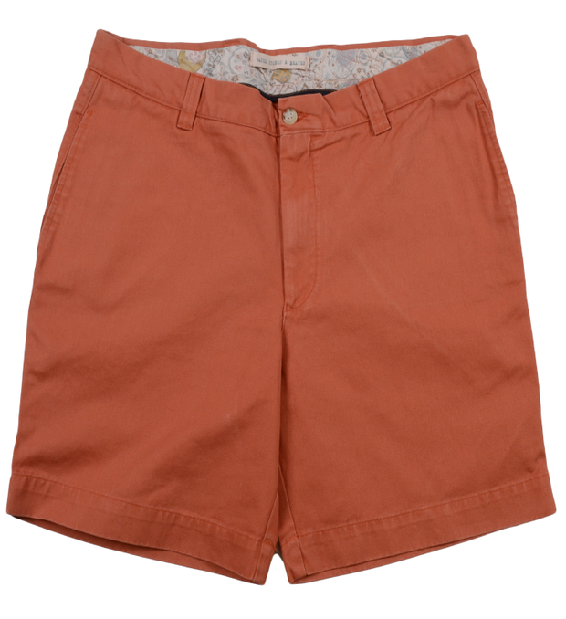 "Classic Vintage Twill<br>7"" Short<br>Burnt Orange"