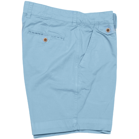 "Sunny Stretch Twill<br>Flat Front Short<br>Citadel Blue<br>7"" Inseam"
