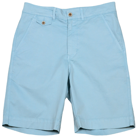 "Sunny Stretch Twill<br>Flat Front Short<br>Citadel Blue<br>9"" Inseam"