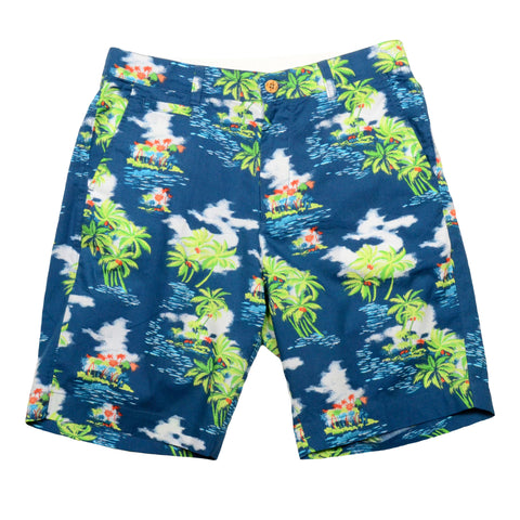 Tropical Print Shorts<br>Ocean