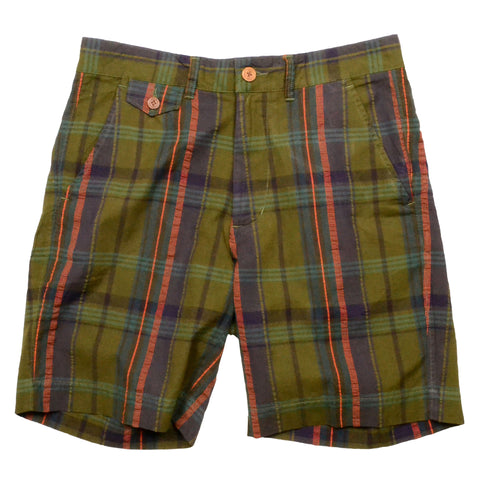 Authentic Madras Short<br> Olive