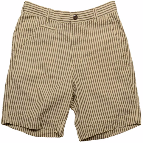 Vintage Seersucker Short<br>Brown